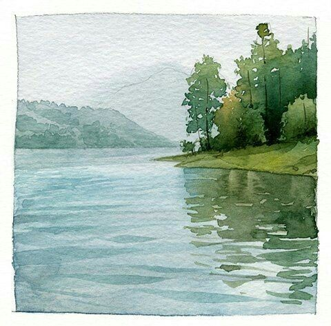 This Looks Very Clear And Beautiful Watercolor Landscape
