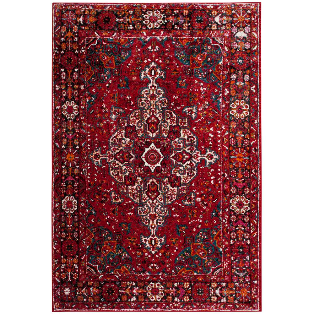 Safavieh Vintage Hamadan Red Multi 8 Ft X 10 Ft Area Rug Vth222a 8 The Home Depot Southwestern Area Rugs Red Area Rug Traditional Area Rugs