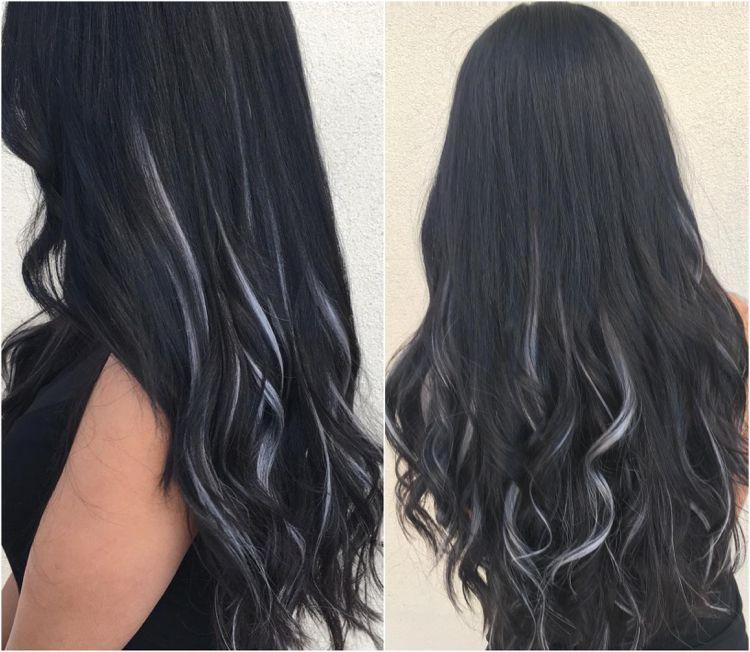 Schwarze Haare, aber welche Strähnchen? Hier sind die