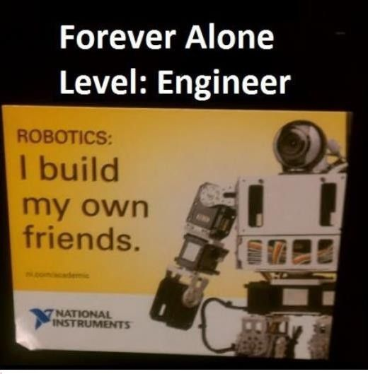 Forever Alone Level Engineer Robotics Robot Memes Engineering