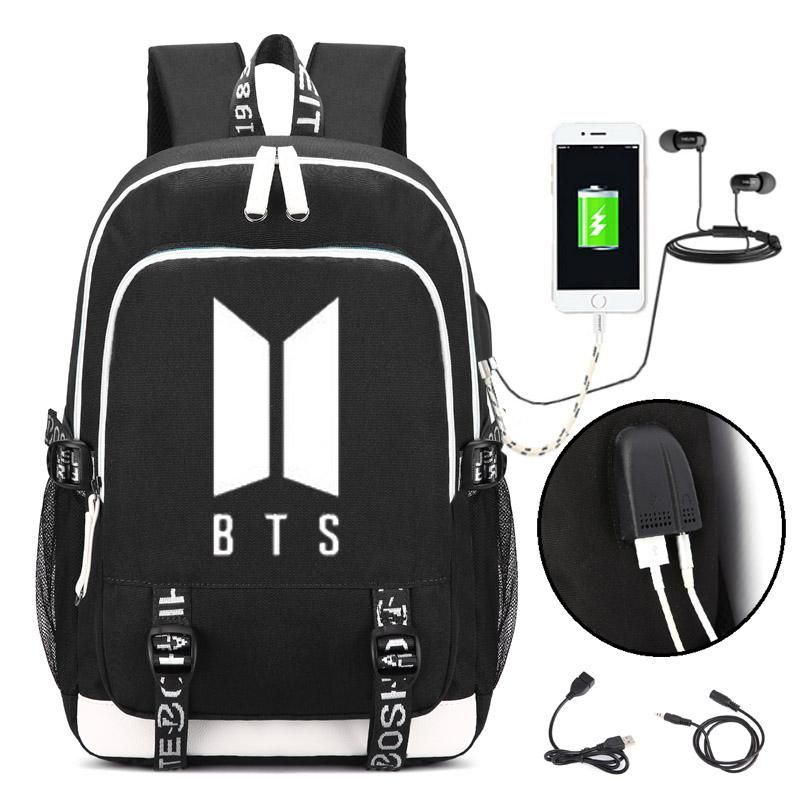 Luggage & Bags New Bts Bangtan Boys Love Yourself Answer Jungkook Jimin Same Students Cool Shopping Travel Bag Backpack Harajuku Canvas Bag Backpacks
