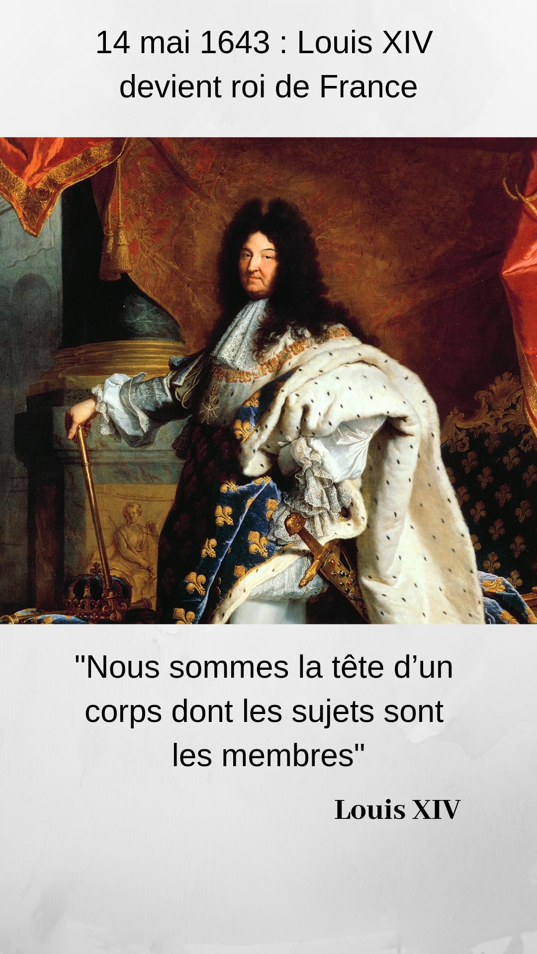 Louis Xiv Roi Soleil Roi De France Histoire Du Jour
