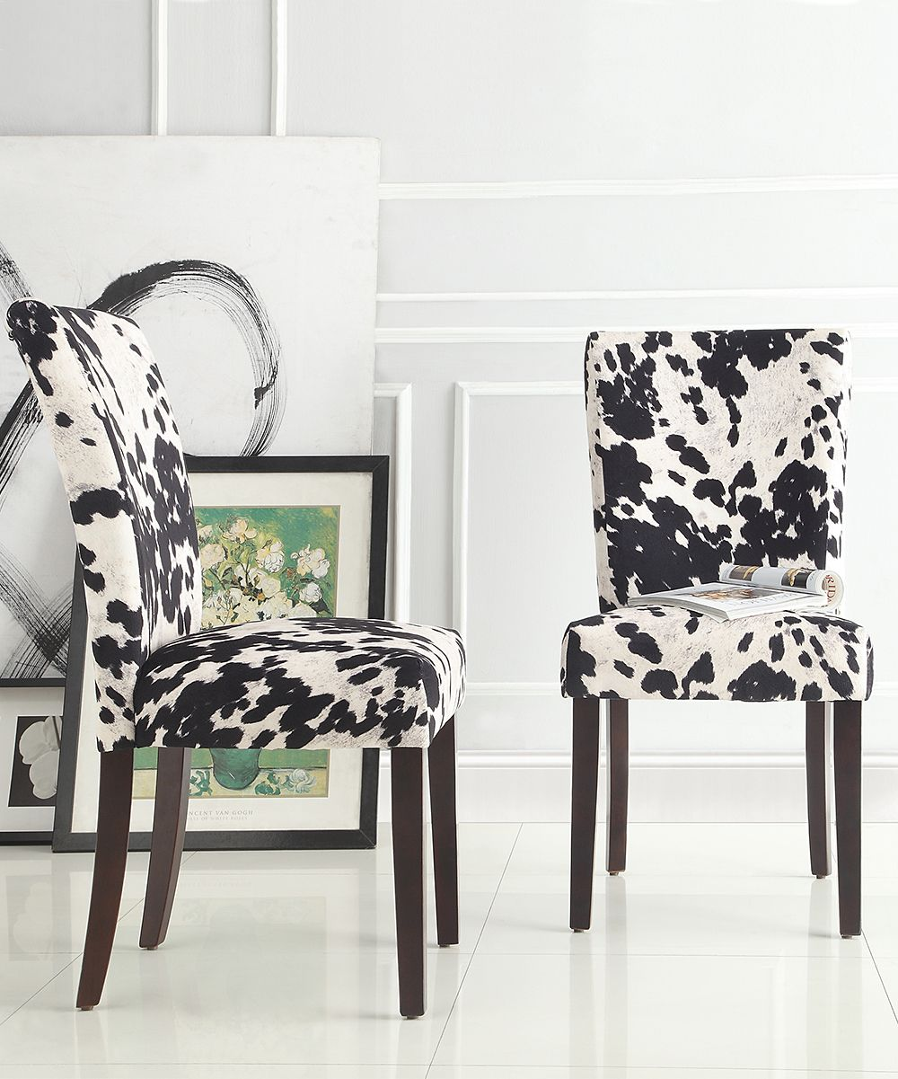 Cowhide Dining Room Chairs: Cowhide Durham Parson Dining Chair