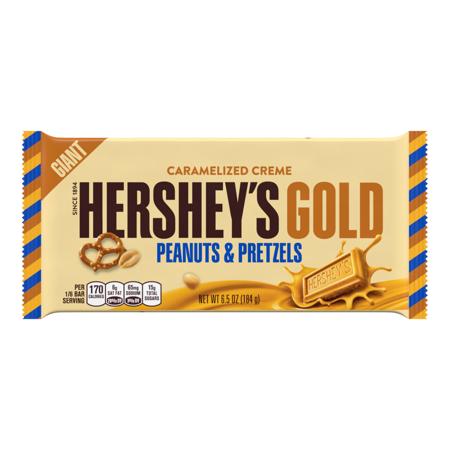 Hershey S Gold Giant Peanut Pretzels Candy Bar 6 5 Oz Walmart Com In 2021 Candy Bar Hersheys Candy