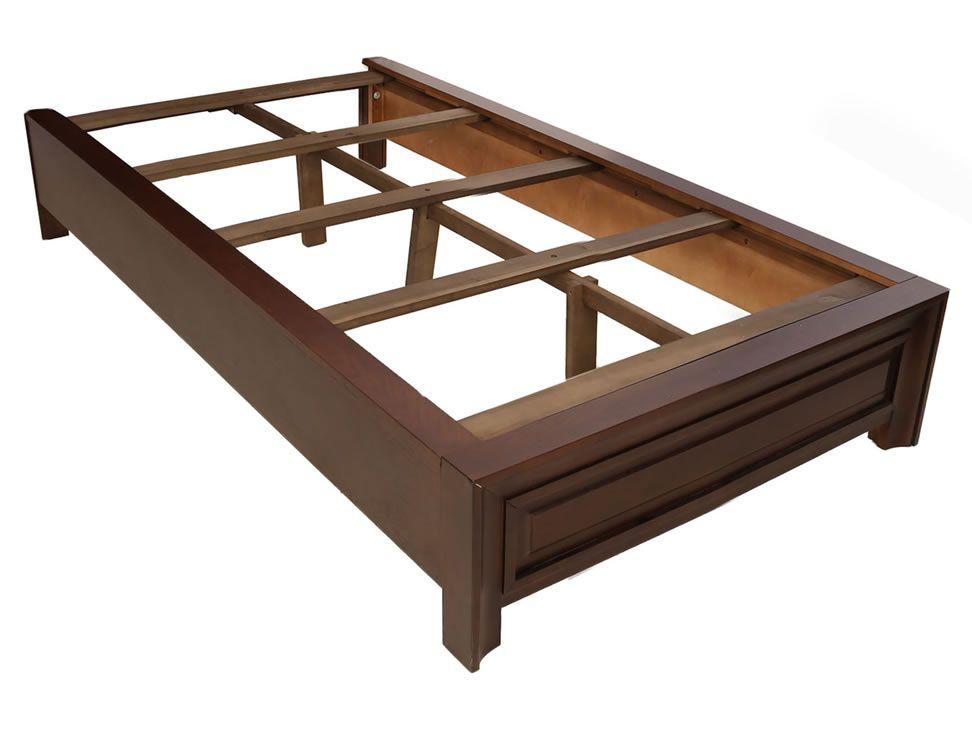 7 base para cama individual gin contempor nea tabaco for Base cama individual