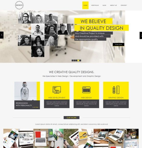 Skokov free html5 template web design freebies pinterest template skokov is a great free flat responsive template with very elegant and modern design cheaphphosting Images