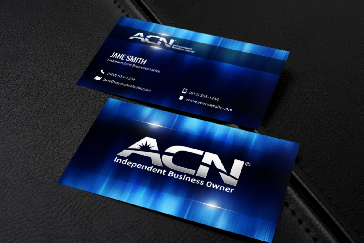 Acn Business Owners Picking One Of Our Business Card Designs Is The Easiest Choice You Can Ma Printing Business Cards Business Card Design Free Business Cards
