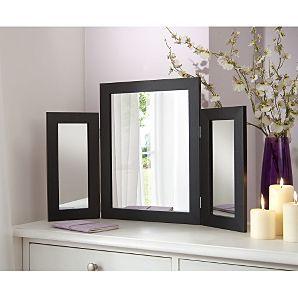 Dressing Table Mirror - Black