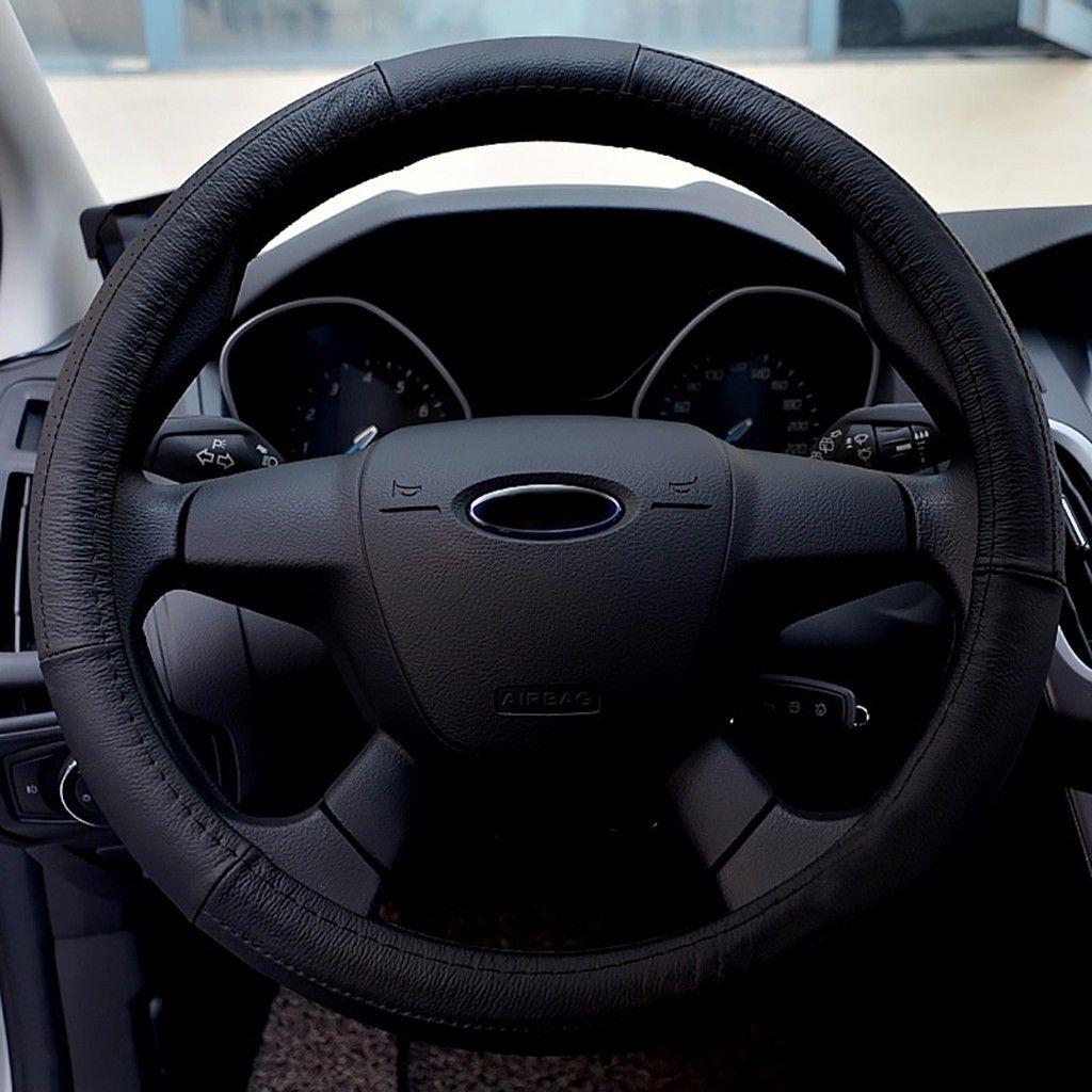 Universal Leather 38cm Diameter Car Steering Wheel