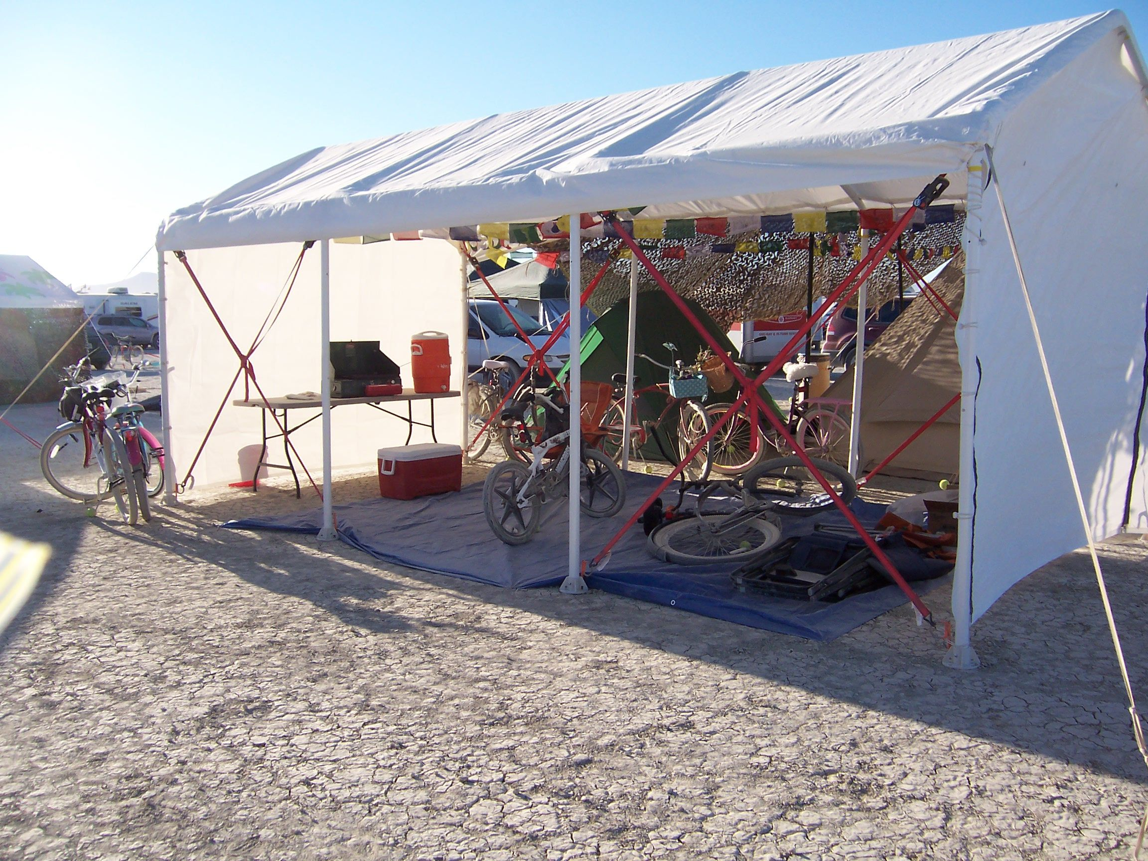 Lots of good ideas from Burning Man. Important tip here