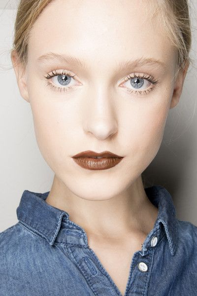 Msgm Spring 2014. http://votetrends.com/polls/369/share #makeup #beauty #runway #backstage Where are the brows?! This could be a very easy, fresh spring update though!