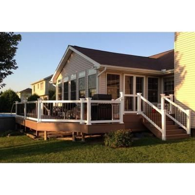 Best Weatherables Bellaire 3 Ft H X 6 Ft W White Vinyl Railing Kit Wwr Thdba36 S6 Vinyl Railing 400 x 300