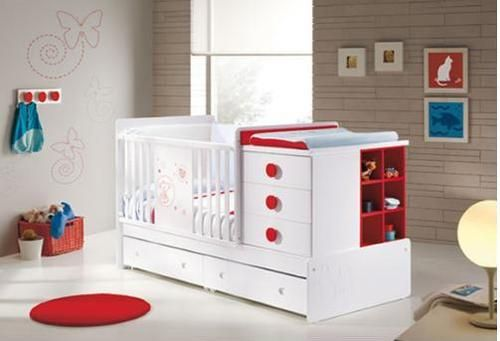 Love The Space Saving Baby Cot And Changing Table Combo For Smaller Homes.