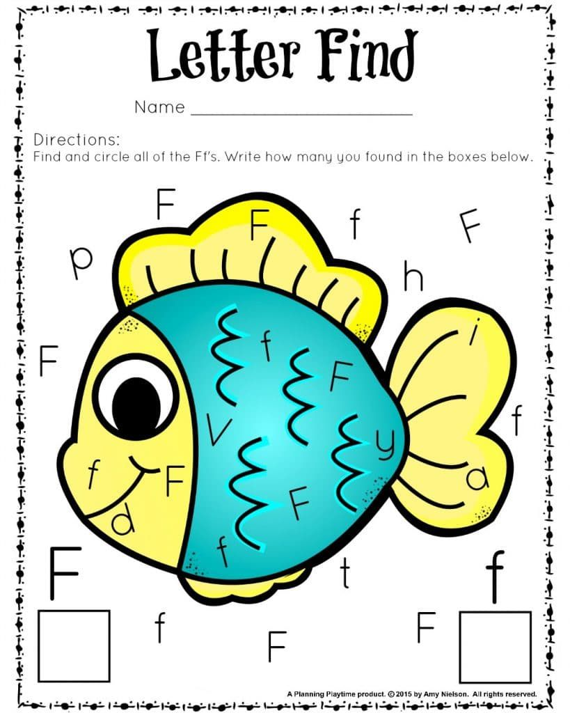 Old Fashioned Cute Letter Find Worksheets Fun Activity For Kids ...