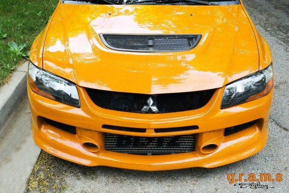 Mitsubishi Lancer Evo 7 8 9 Front Bumper With Lip Jdm Style Etsy Mitsubishi Lancer Mitsubishi Evo
