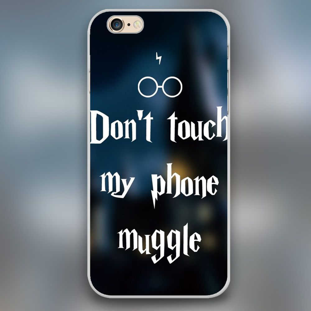 Harry Potter Iphone Wallpaper: Harry Potter Don't Touch My Phone Muggle Design Case