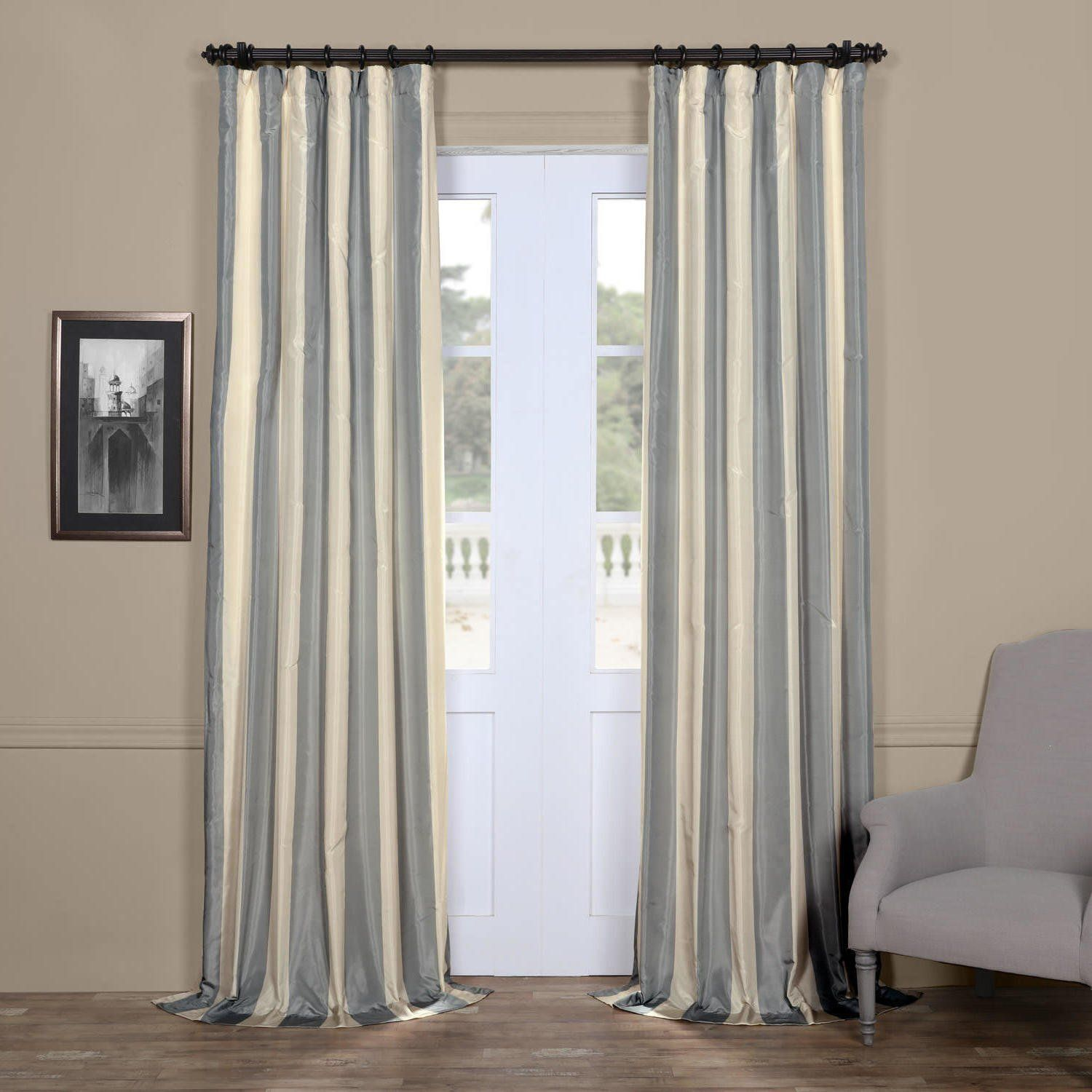 solid signature pin pinch pleated curtain silk panel blackout exclusive drapes fabrics faux peacock