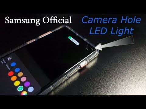 Samsung's OFFICIAL Galaxy S10 LED Notification Light