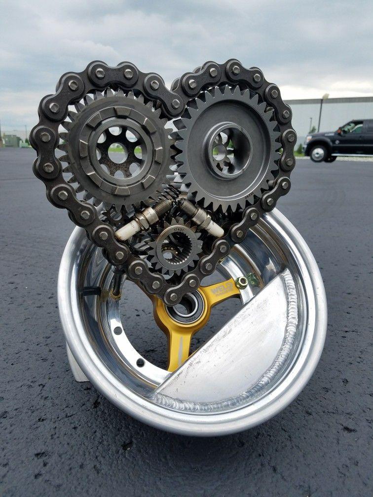Metal art weld racing micro sprint car wheel cold hard art