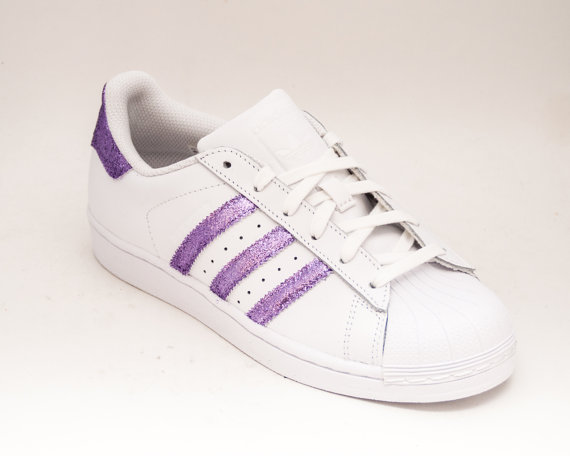 492e7c71f Lavender Light Purple Glitter Adidas Superstars II Fashion Sneakers ...