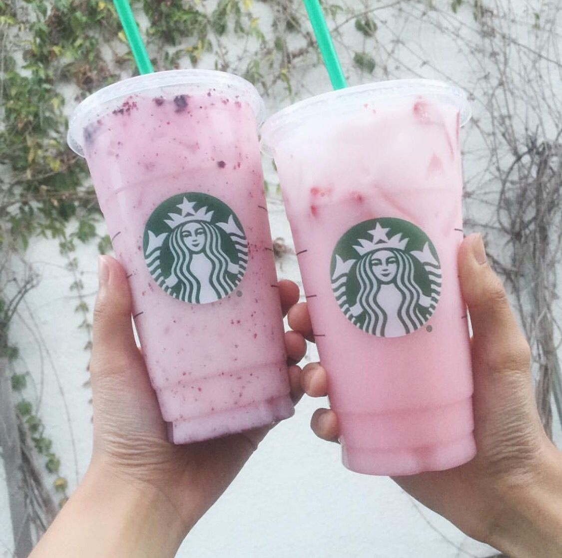Very Berry Hibiscus And Strawberry Acai With Coconut Milk