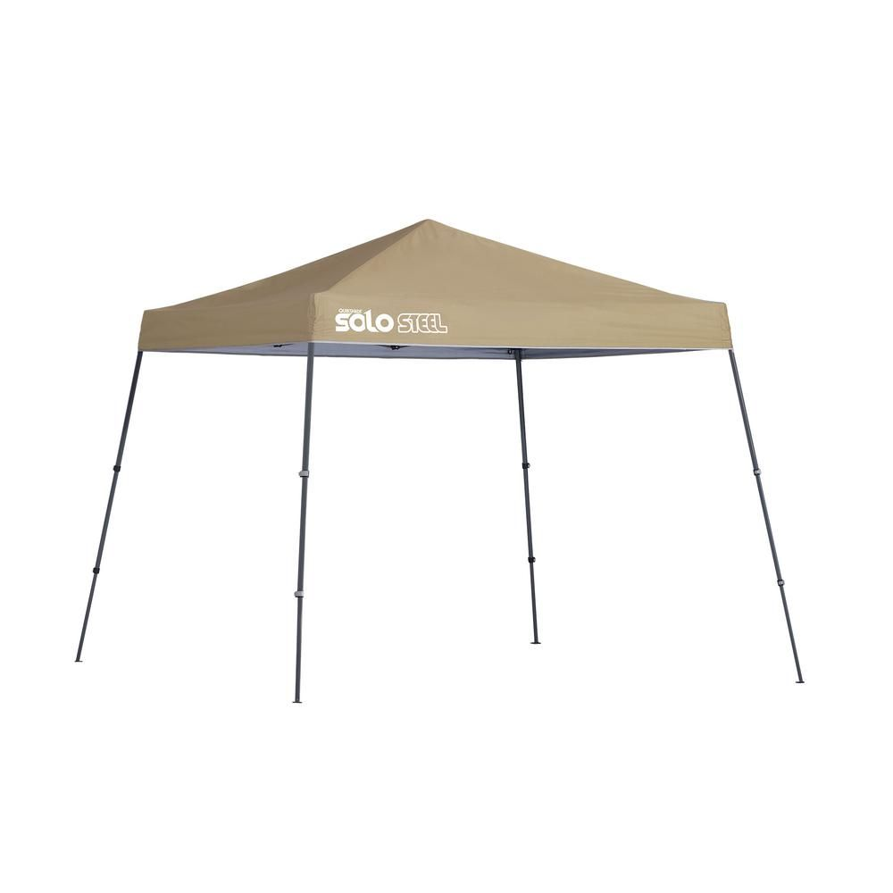Quik Shade 10 X 10 Ft Khaki Slant Leg Canopy Browns Tans Canopy Canopy Weights Gazebo Canopy