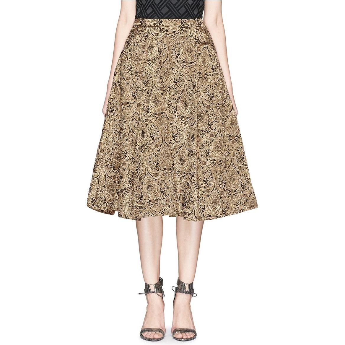 Alice + Olivia Rachelle Beaded Brocade Midi Gown Skirt as seen on Taylor Swift