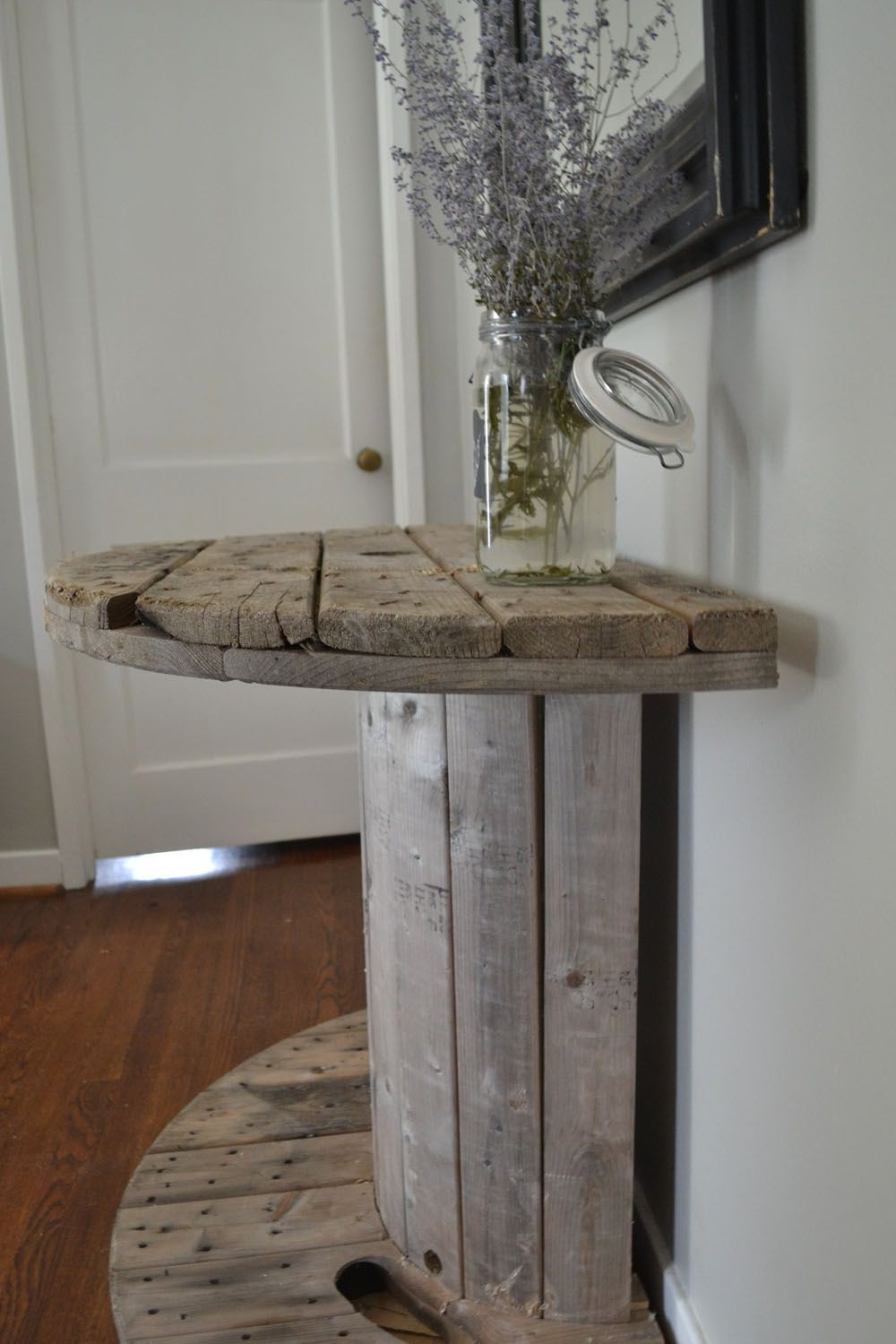 Spool Console Table #cablespooltables Spool Console Table #cablespooltables