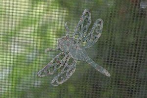 Magnetic Screen Saver Decorate Patch Repair For Windows And Doors Dragonfly Decorative Screens