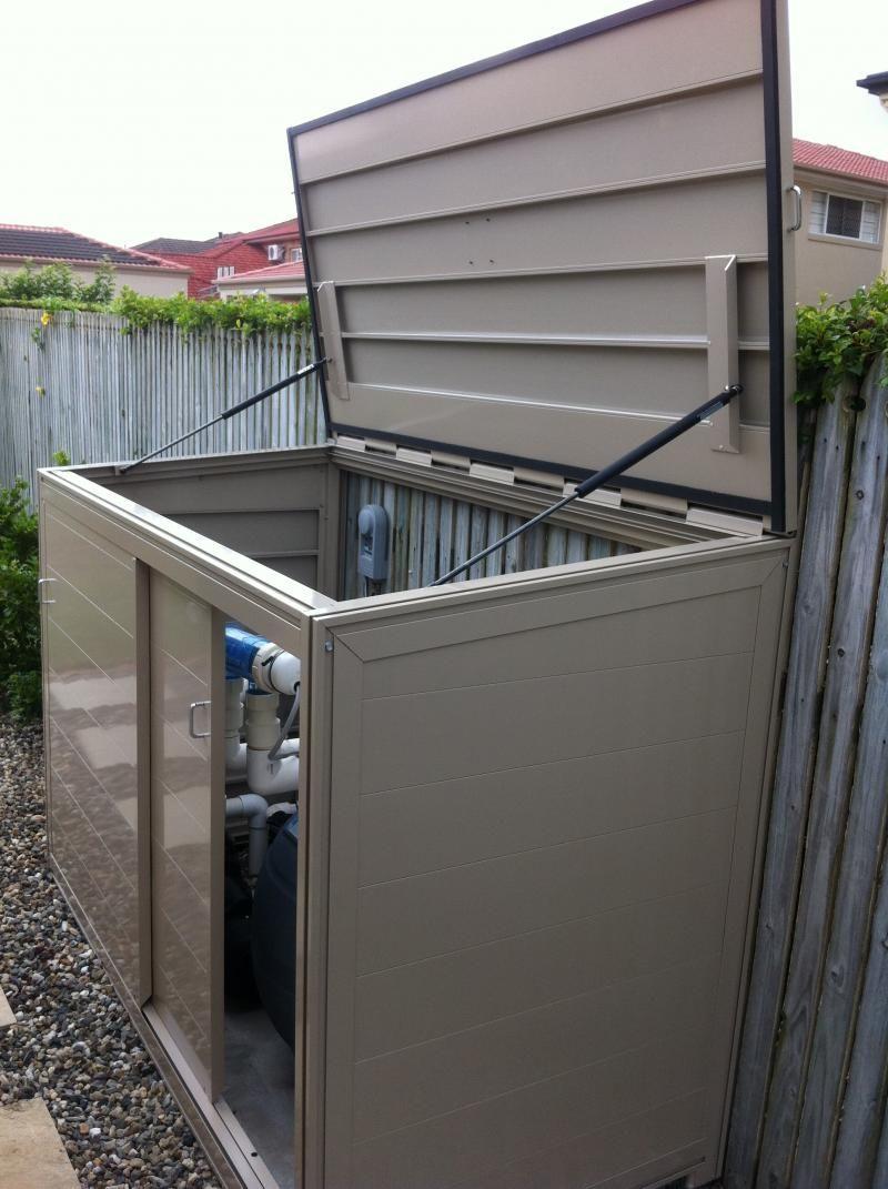 Effigy of Unique Pool Equipment Enclosures Ideas   Pool ... on Outdoor Water Softener Enclosure  id=28479