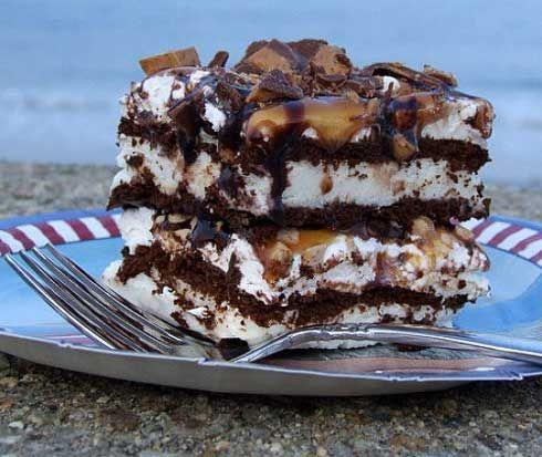Frozen Caramel- Toffee Ice Cream Sandwich Dessert: ice cream, cool ...