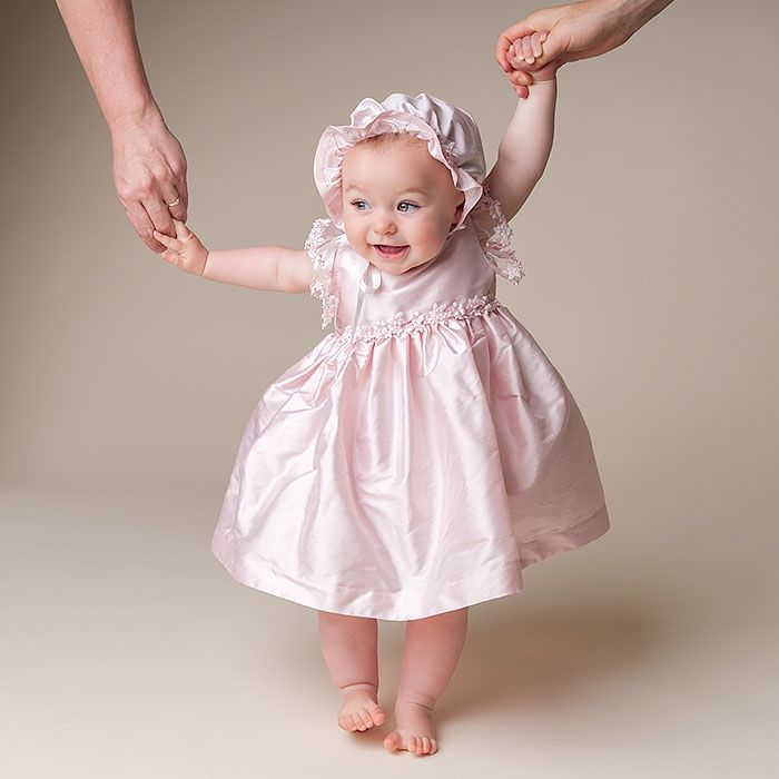 Leila Pink Silk Dress (18-24 month only) | Baby girl dresses and Babies