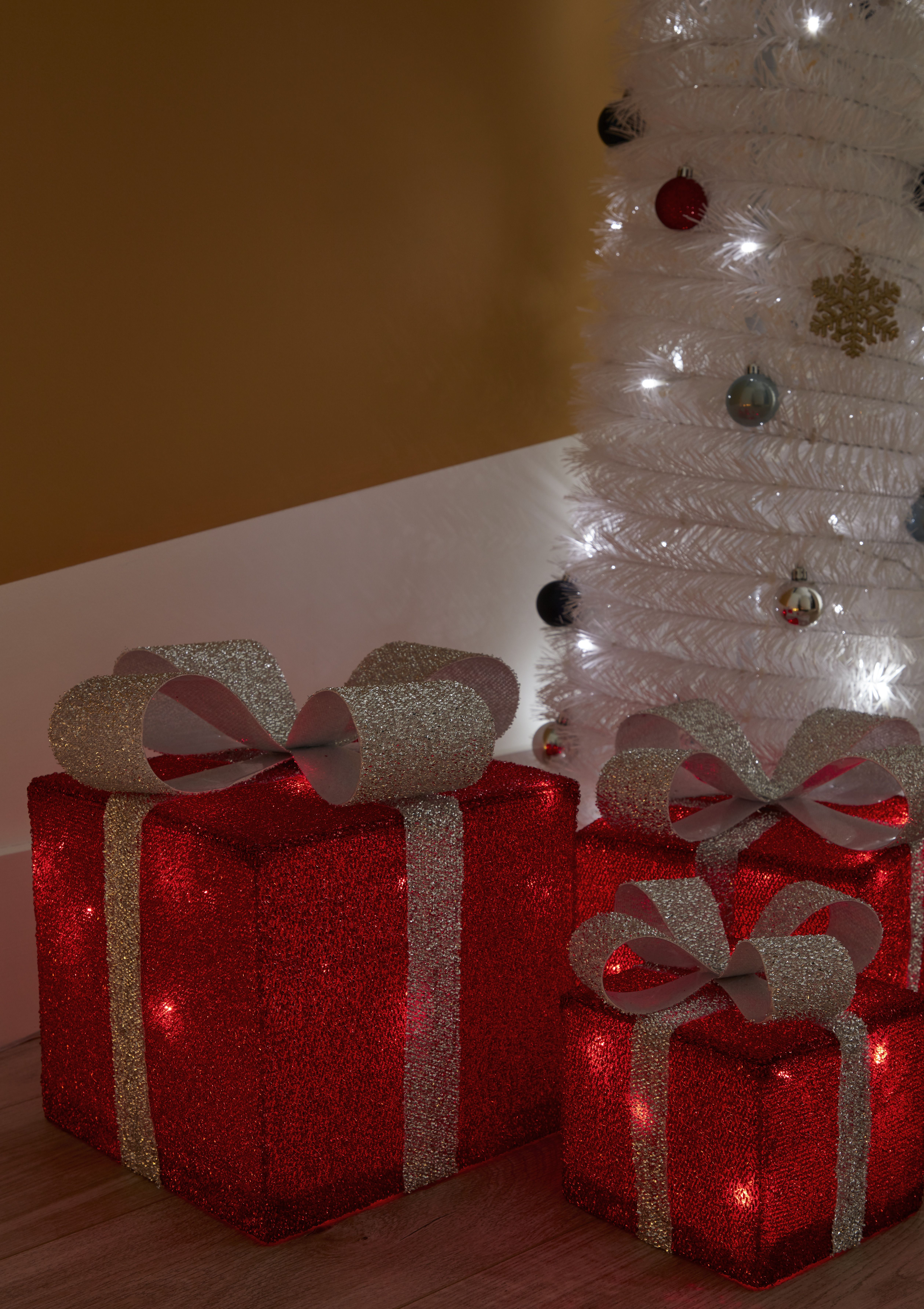 Prezenty Led Zewnetrzne 3d 3 Szt Gifts Gift Wrapping Led