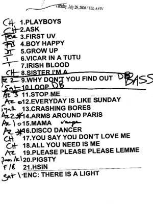 Morrissey Setlist
