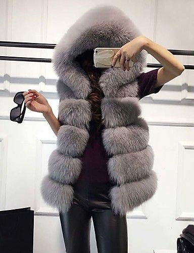 Nuovo gilet vera pelliccia volpe donna XS-XL  inverno cappotto giacca fox fur