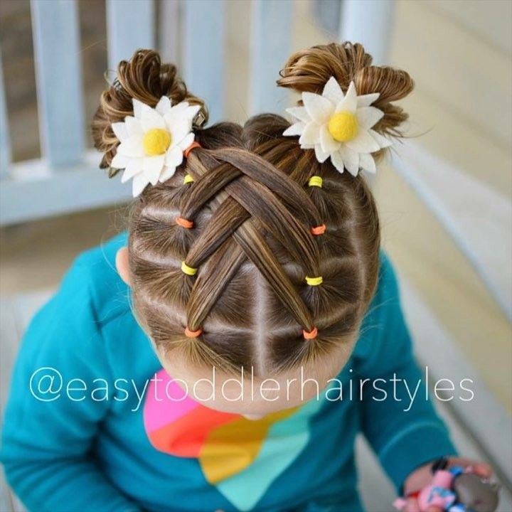 "Tiffany ❤️ Hair For Littles on Instagram: ""Cascade weaved elastic hairstyle. Full tutorial on YouTube, link in profile!"""