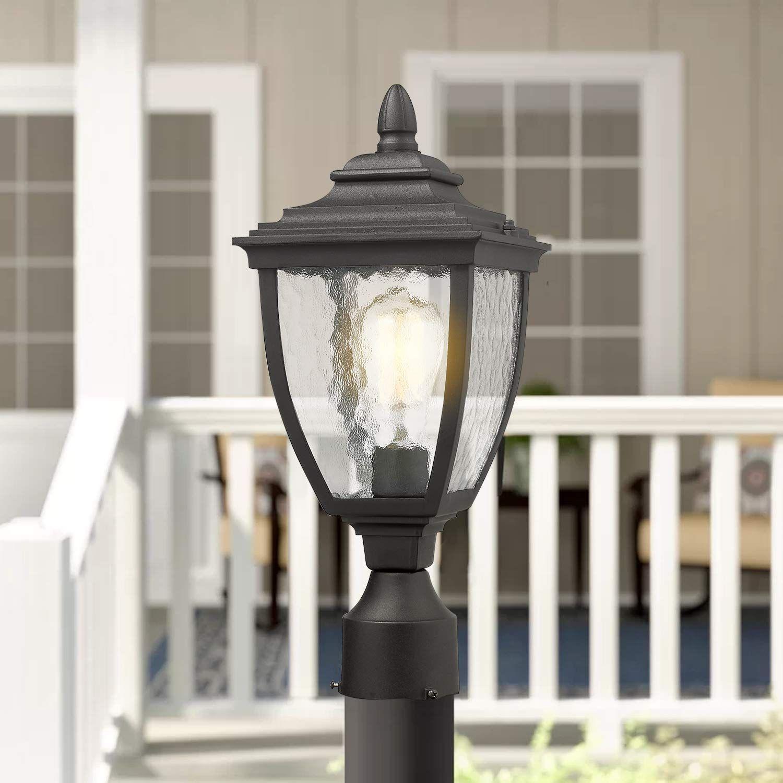 Beionxii Outdoor Post Lights 1 Light Vintage Exterior Post Lamp With 3 Inch Pier Mount Adapter Black Finish In 2020 Outdoor Lighting Outdoor Post Lights Post Lights