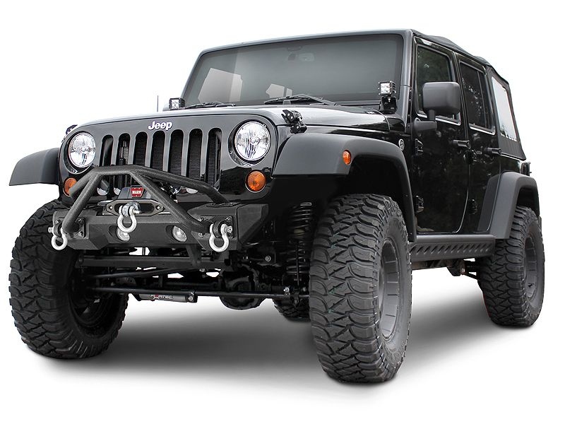Fortec Custom Jeeps, Inc. - Jeep Parts & Accessories :: Jeep® Side Bumpers :: Smittybilt® SRC Rocker Guard with Plate in Black Powder Coat for 07-14 Jeep® Wrangler & Wrangler Unlimited