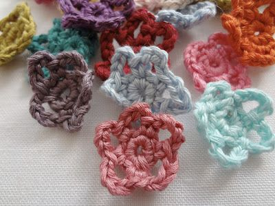 These Are So Cute Free Crochet Mini Flower Pattern Wish I Knew