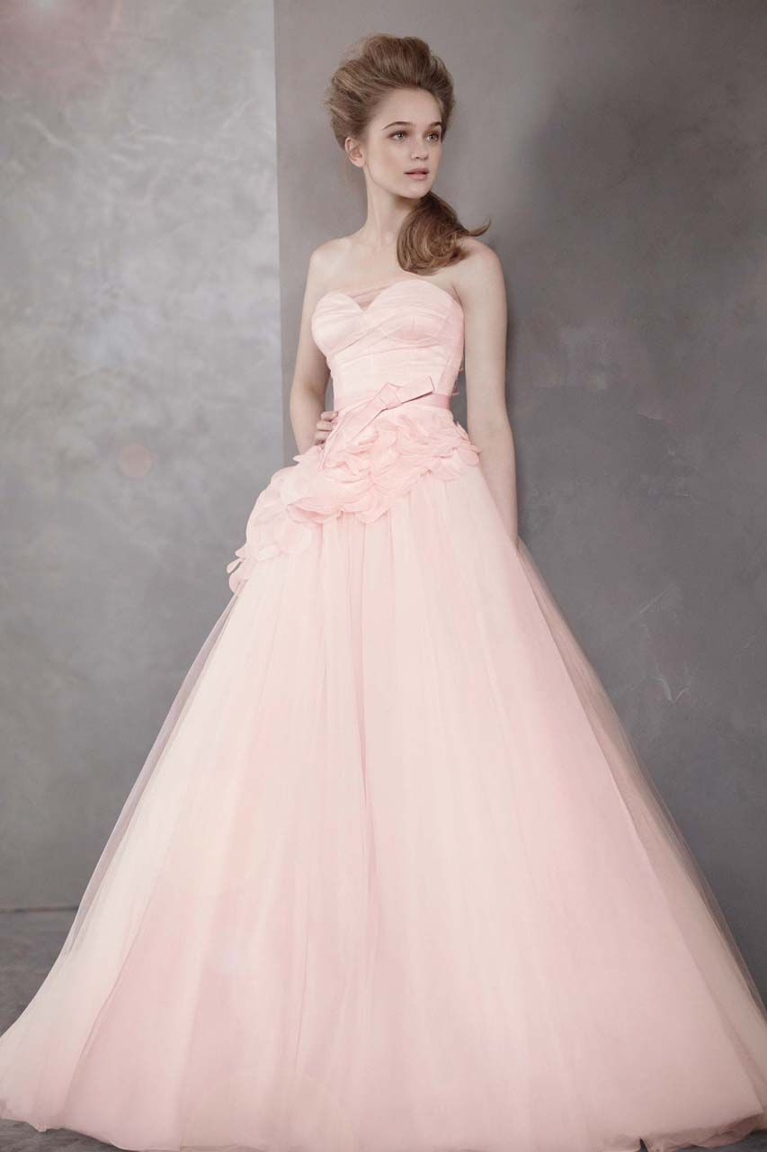 Champagne colored wedding dress  Wedding Gown Gallery  Blush gown Gowns and Wedding designs