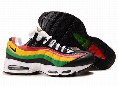 more photos 8bc3f 33d9d ... Nike Air Max 95 Mens Running Shoe Rasta Sale nike air max 95 jamaica  edition ...