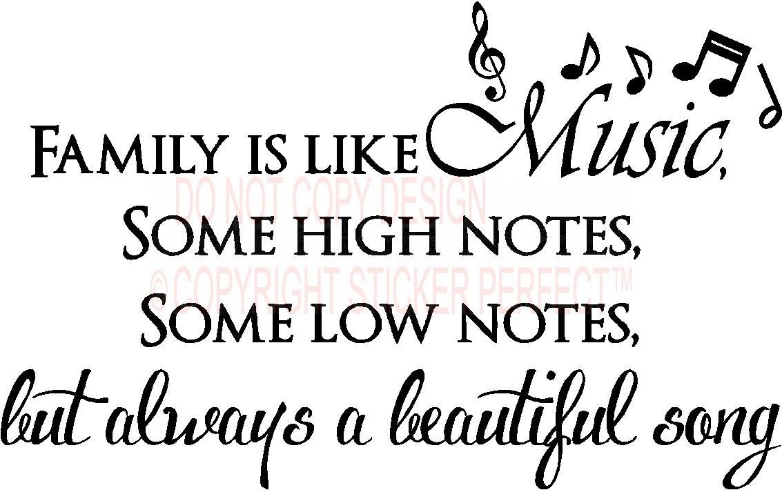 Beautiful Family Quotes Song Inspirational Vinyl Wall Decals Sayings