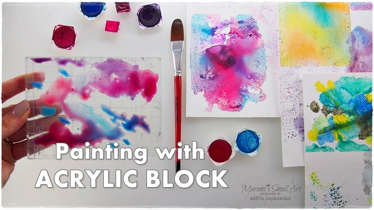 Watercolor Background Using Acrylic Block Technique For Beginners