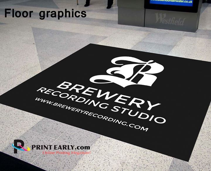 Floor Graphics Are Available For Either Short Term Or Long Term Use They Are Adhesive Back With Images Printing Business Cards Vinyl Banner Printing Custom Business Cards