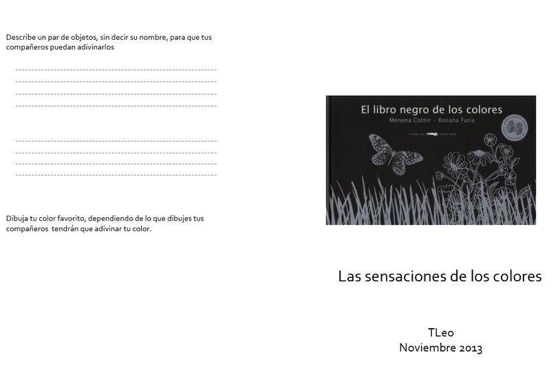 Juego para después del cuento El Libro negro de los colores. En pdf ...