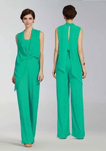 Fashion Green Silk Jumpsuits Formal Jumpsuits Women, View Green ...