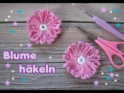 Schnell Und Einfach Eine Blume Häkeln Crochet Flowers