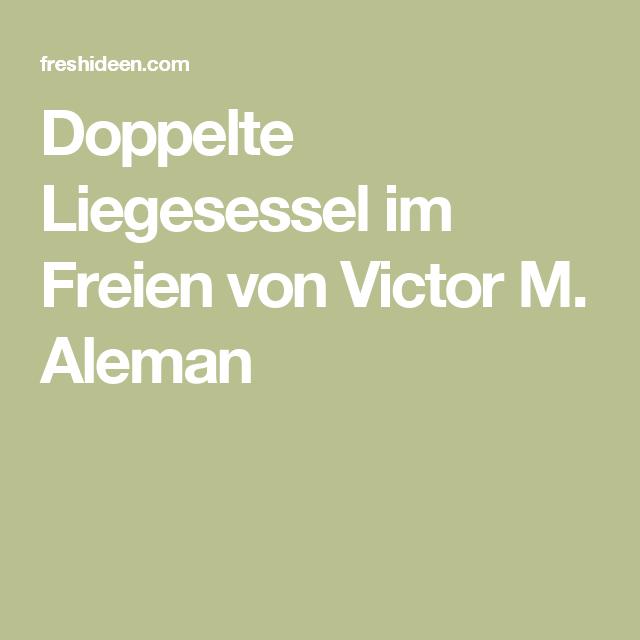 Doppelte Liegesessel im Freien von Victor M. Aleman