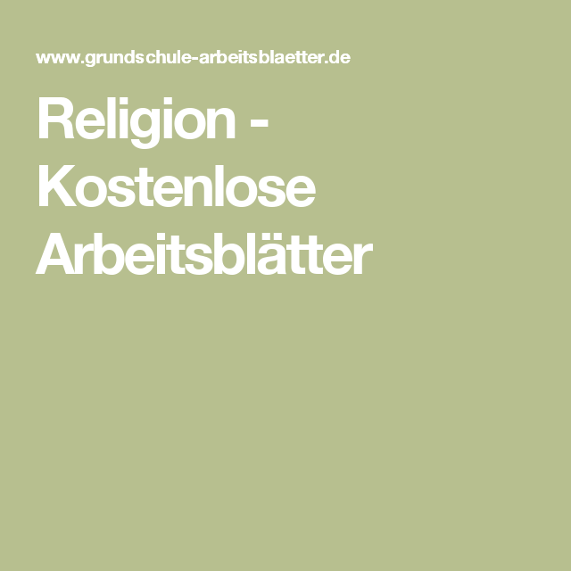 Religion - Kostenlose Arbeitsblätter   Bibel   Pinterest ...