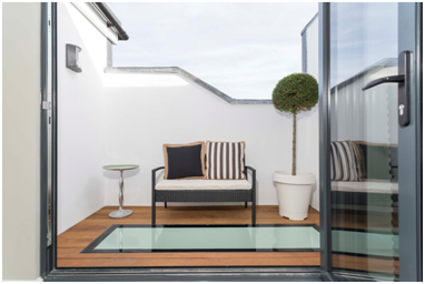 Roof Terrace Built By Simply Loft To A Loft Conversion In London. A Glazed  Floor Was Added To Provide Light To The Room Below.